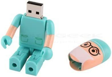 Shooo 64GB Creative Plastic Doctor USB 2.0 Unidad Flash Toy Shape Style Cartoon Robot,Verde,with Caja de Regalo de plástico: Amazon.es: Electrónica