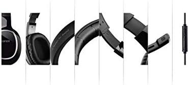 HNSYDS シンプルなワイヤレスゲームヘッドセットヘッドマウントから選択する、快適で通気性の2色のイヤーパッドクッションで調整可能 ゲーミングヘッドセット (Color : Black)