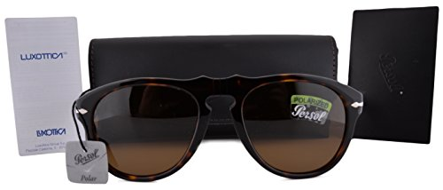 Persol PO0649S Sunglasses Havana w/Polarized Crystal Brown Lens 2457 - Polarized Persol 649
