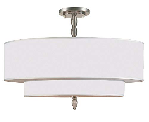 Crystorama 9507-SN_Ceiling Luxo - Five Light Semi-Flush Mount, Choose Finish: Satin Nickel