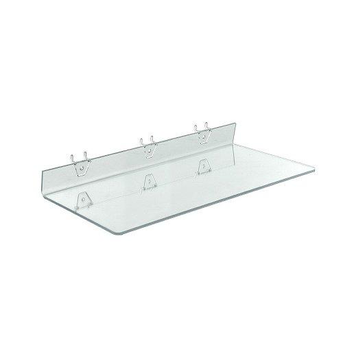 Azar Displays 556011-4pack Clear Acrylic Shelf for Pegboa...