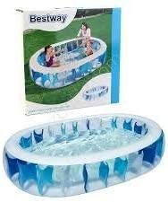 Piscina Hinchable Infantil Bestway Elliptic Pool: Amazon.es: Jardín