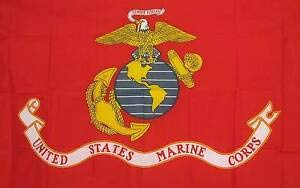 LuxMart Premium 3 X 5 U.S Marine Corps RED Polyester Flag with Grommets Banner Sign Display