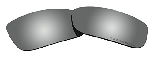 Polarized Lenses Replacement for Oakley Crankcase Sunglasses Black Mirror Coatings