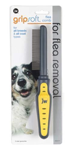JW Pet Company GripSoft Flea Comb for Dogs ()