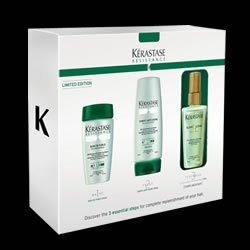 Image Unavailable. Image not available for. Colour: Kerastase Resistance Essential Steps Gift Set