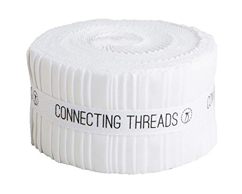 Connecting Threads Color Wheel Precut Quilting Fabric Bundle (White - 2.5