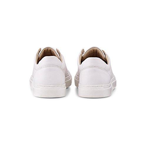 Sneaker Coolem Freizeit mit Lochmuster Leder Aus Cox Weiße Weiß Schnürer 0BpwqatR