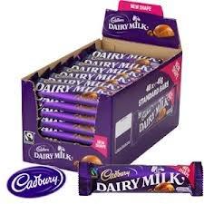 Cadbury Dairy Milk New Shape - Case of 48 (45g bars)