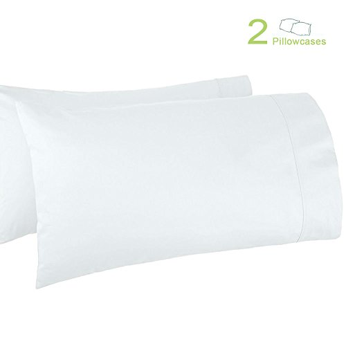 All Cotton Pillowcases - Haperlare 2-Pack 100% Egyptian Cotton 800 Thread Count Pillowcases Premium White Cotton Pillowcases, King Pillowcase Pillow Covers, 20 x 40 inch