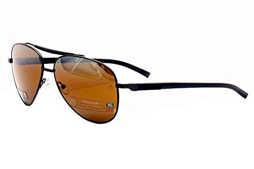 Tag Heuer Automatic Men's Aviator Sunglasses - Chocolate / Brown - - Sunglasses Th