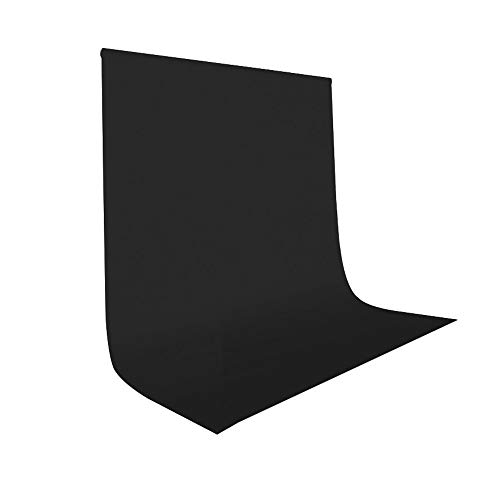 UTEBIT Black Photo Backdrops 5x7 / 1.5x2m Collapsible Photo Booth Polyester Photoshoot Blackground Sheet Wrinkle Resistant Backdrop for Portrait Photo Studio Video Shooting (Stand Not Include)