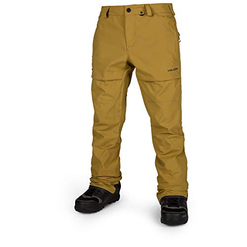 Volcom Men's Stretch 2 Layer Gore-Tex Snow Pant, Resin Gold Extra Large