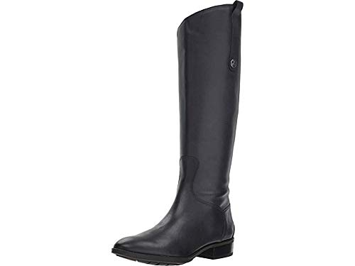 Sam Edelman Penny Leather Riding Boot Inky Navy Basto Crust Tumbled Leather 9.5