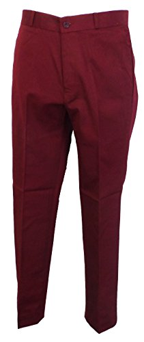 Relco STA-Press Mod Trousers Burgundy