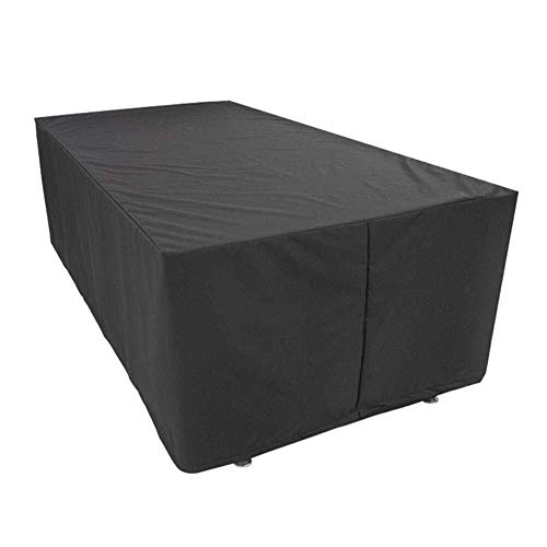 - Outdoor Barbecue Cover Dust Cover Protective Cover Garden Outdoor Home Oxford Cloth Material Black (Size : 325 x 208 x 58 cm)
