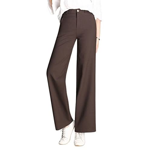 898929217b2a3 Women s High Waist Dress Pants Formal Wide Leg Trousers Plus Size 70 ...