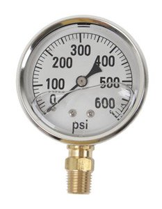GAUGE-600 PSI LIQUID FILL SS CASE (Fill Liquid Ss Gauge)