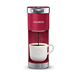 Keurig K-Mini Plus Single Serve K-Cup Pod Coffee Maker, with 6 to 12oz Brew Size, Stores up to 9 K-Cup Pods, Travel Mug Friendly 1 What's in the box: Keurig k-mini plus single serve Coffee maker, Pod storage unit that fits in your brewer and can hold up to 9 K-Cup pods. Fits anywhere: less than 5 inches wide, Perfect for small spaces. Strong brew: brew a stronger, more intense cup.