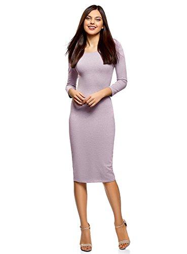 oodji Ultra Damen Enges Kleid mit U-Boot-Ausschnitt