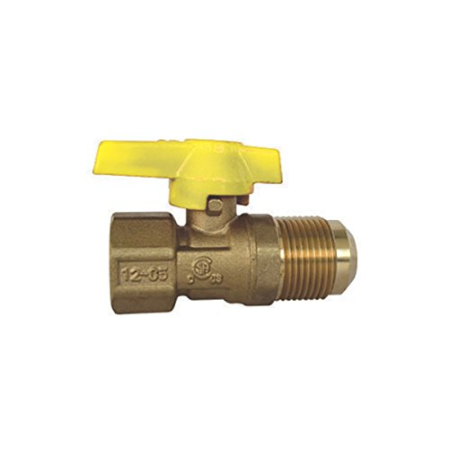 Red-White Valve 12RW5212 Gas Ball Valve with 1/2 IPS x 15/16 Flare, 1/2'' by Red-White Valve