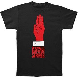 Amazon.com: White Stripes Three T-shirt Small: Fashion T Shirts ...