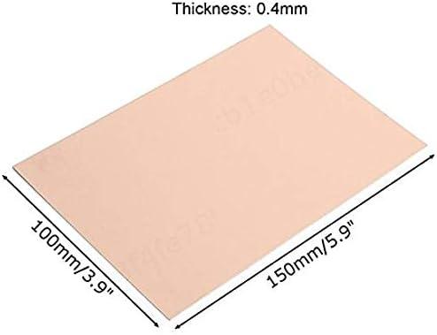 tama/ño 1 // tama/ño 2 SALAKA 10Pcs 0,4 mm con Revestimiento de Cobre de la Placa PCB Placa de Circuito Placa FR4 Laminado PCB de Circuito Impreso
