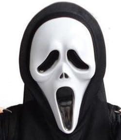 Plástico de miedo fantasma cara máscara de Scream vestido de ...
