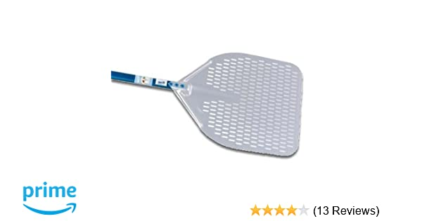 20-inch Handle 13-inch Rectangular Perforated Pizza Peel