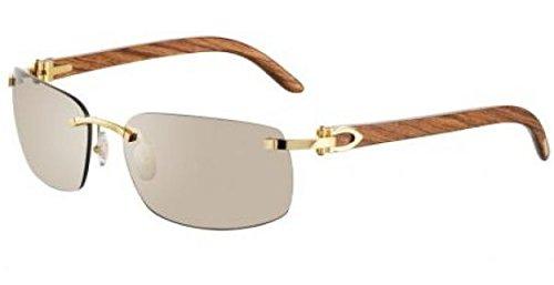 98f97df288 lunettes de soleil cartier calvi fop t8200760: Amazon.fr: Vêtements ...