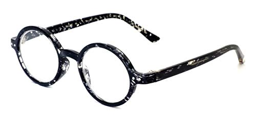 Calabria R421 Unisex Vintage Oval Reading Glasses Incredibly Lightweight and Comfortable in Smoke +6.00
