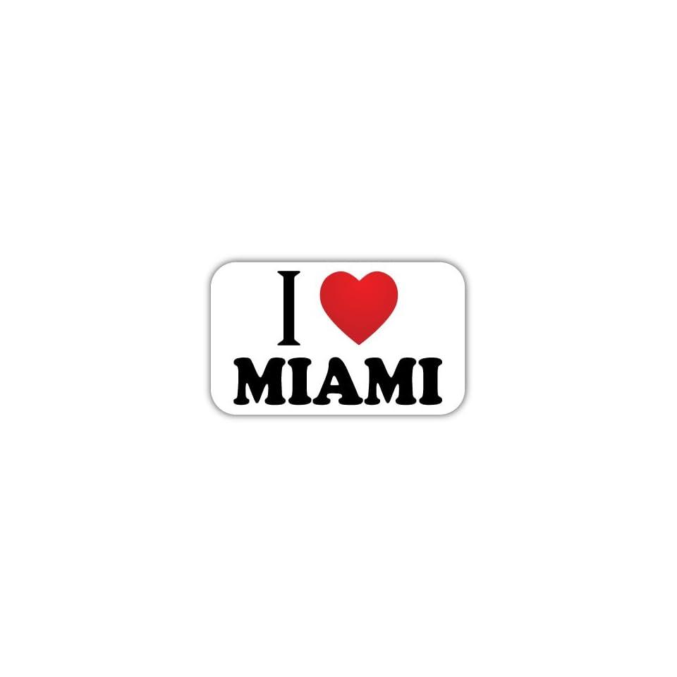 I Love MIAMI Car Bumper Sticker Decal 5 X 3