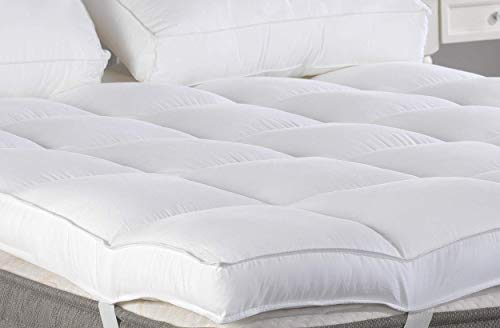 "Marine Moon King Mattress Topper, Plush Pillow Top Mattress Pad/Bed Topper, Hotel Quality Down Alternative, 3"" Thick"
