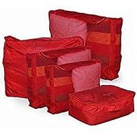 5-piece Travel Bag Organizer Set - Red