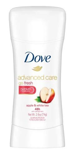 (Dove Go Fresh Apple & White Tea Invisible Solid Antiperspirant & Deodorant 2.6oz,pack of 1)