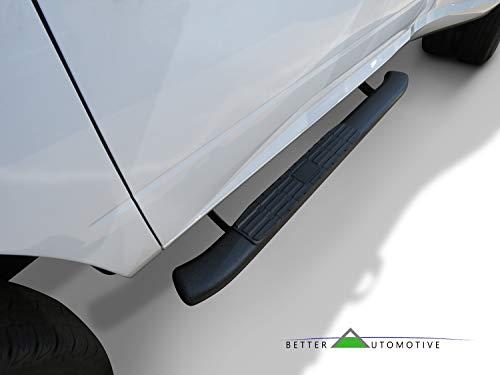 Better Automotive Side Steps Fit 2009 2018 Dodge Ram 1500 Regular Cab Incl 2019 Ram 1500 Classic 2010 2019 Dodge Ram 2500 3500 4500 5500 Regular Cab Oval Bend Texture Black Nerf Bars Running Boards