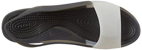 Crocs ColorBlock W - Bailarinas para mujer Nero (Black/Stucco)