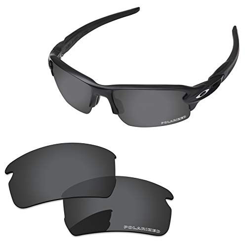- PapaViva Lenses Replacement for Oakley Flak 2.0 Asian Fit Black Grey - Polarized
