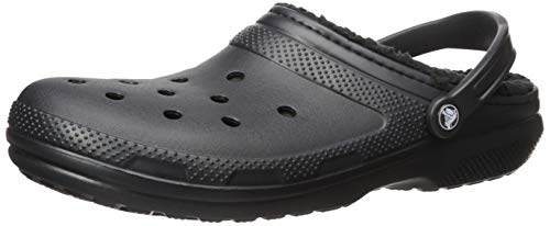 Crocs Classic Lined Clog Mule, Black/Black, 9 US Women / 7 US Men