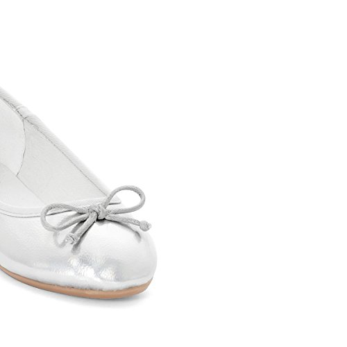 La Redoute Collections Mdchen Ballerinas in Glanzoptik 2635 Gre 29 Grau