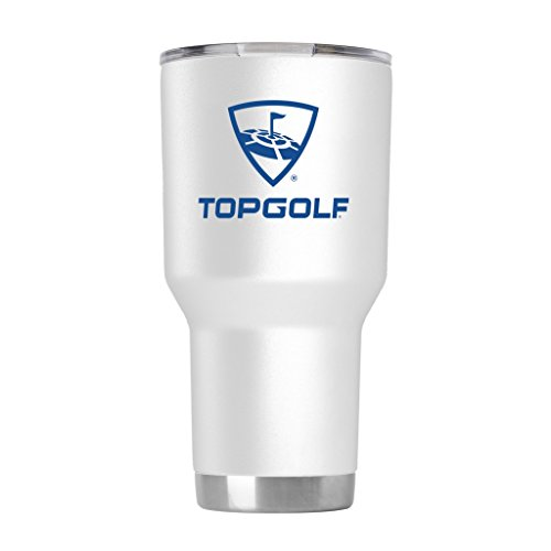 Topgolf Logo Tumbler With Sliding Lid  White  30 Oz