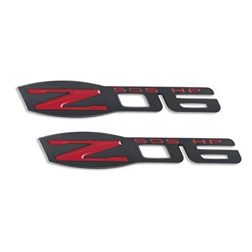 (Z06 Emblems Z06 3D Decal for Chevy Corvette C6 (MATTE BLACK) 2Pack)