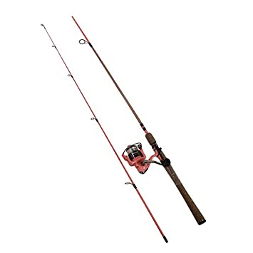 Shakespeare Frlssc66M6 Lady Fearless Spin cast Rod Reel Combo 2 Piece , Medium 6 6