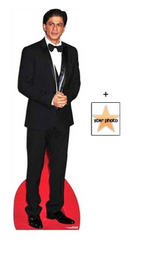 Fan Pack -Shah Rukh Khan Lifesize Cardboard Cutout / Standee - Includes 8X10 (25X20Cm) Star Photo