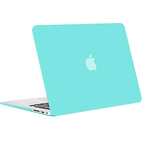MOSISO Plastic Hard Shell Case & Keyboard Cover & Screen Protector Only Compatible with MacBook Air 13 inch (Models: A1369 & A1466, Older Version 2010-2017 Release), Turquoise