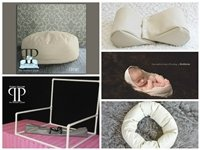 STARTER SET #23 ~Posey Pillow Travel size, Squishy poser, Doughnut Poser & Small size pvc backdrop stand ~ NEWBORN PHOTO PROP by Posey Pillow
