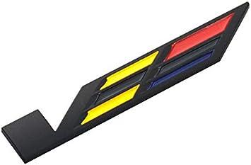 3x Black V Car Body Trunk Lid Sticker Badge Emblem Compatible For ATS CTS SRX XTS Black//Yellow//Red