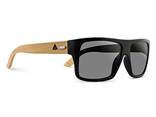 TREEHUT Wooden Bamboo Sunglasses Temples Classic Aviator Retro Square Wood Sunglasses 1 NATURE-FRIENDLY - Treehut Wooden Bamboo Sunglasses are environmentally conscious because they are made of sustainable bamboo wood. When bamboo is harvested, it renews itself readily, making it an endlessly renewable source. TIMELESS DESIGN - The classic design of the Aviator exudes a trendy feeling making it ideal for trips to beach or a stroll around town. It complements all face shapes and can be worn by ladies and gentlemen alike. HIGH-GRADE LENSES - The lenses offer 100% protection against harmful UVA/UVB rays, allowing you to have all the fun under the sun.
