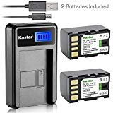 Kastar Battery (X2) & LCD Slim USB Charger for JVC BN-VF815 BNVF815 and Everio GC-PX10 GC-PX100 GS-TD1 GZ-HD300 GZ-HD320...