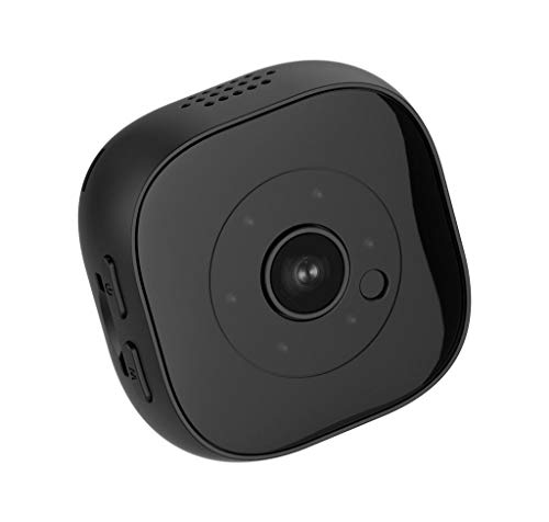 Mini WiFi Wireless Hidden Spy Camera, H9 HD Waterproof Portable Small Nanny Cams Home Security Battery Powered Motion Detection - Indoor Covert Security Camera for Home and Office (Black)